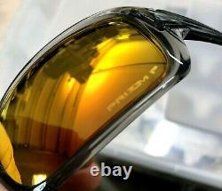 NEW Oakley TURBINE Grey Smoke POLARIZED PRIZM Ruby Iridium Sunglass 9263-57