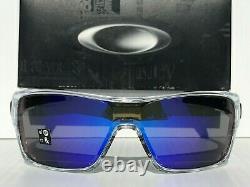 NEW Oakley TURBINE ROTOR Clear POLARIZED Galaxy Blue Sunglass 9307