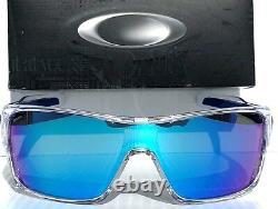 NEW Oakley TURBINE ROTOR Clear POLARIZED Galaxy Blue Sunglass oo9307
