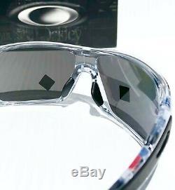 NEW Oakley TURBINE ROTOR Clear POLARIZED PRIZM Black Iridium Sunglass 9307-16