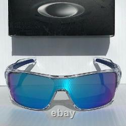 NEW Oakley TURBINE ROTOR Clear w Sapphire Iridium lens Sunglass oo9307-10