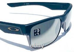 NEW Oakley TWO FACE Matte BLACK Chrome w POLARIZED PRIZM Black Sunglass 9189-38