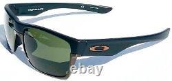 NEW Oakley TWO FACE Matte BLACK Copper frame w Dark Grey Sunglass 9256-01