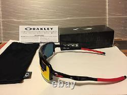 NEW Oakley Triggerman Sunglasses, Black Ink / Ruby Iridium, OO9266-10