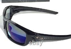 NEW Oakley VALVE Black POLARIZED Deep BLUE ANGLER Sunglass 9236-12