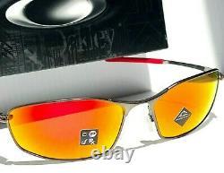 NEW Oakley WHISKER Gunmetal Metal with PRIZM Ruby Sunglass 4141-02