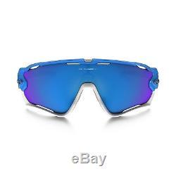 New Authentic Oakley Jawbreaker Sunglasses OO9290-02 Sky Blue Sapphire Iridium
