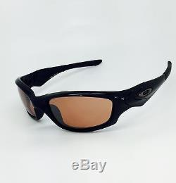 New Men's Oakley STRAIGHT JACKET 26-237 Polished Black with VR28 Black Iridium
