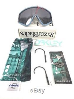 New OAKLEY OO9259-07 Special Heritage Edition EYESHADE Blue / Grey Lens