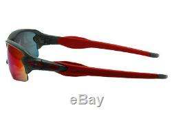 New OAKLEY OO9271-03 Flak 2.0 Asia Fit Matte Grey Smoke / Positive Red Iridium