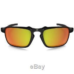 New Oakley Badman Dark Carbon Ruby Iridium Polarized Mens Sunglasses OO6020-03