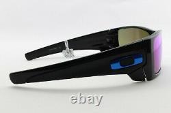 New Oakley Batwolf 9101-58 Prizm Sapphire Sports Black Wrap Sunglasses