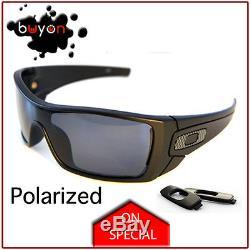 New Oakley Batwolf Polarized Matte Black, Men's Sunglasses OO9101-04 RRP $299