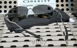 New Oakley CROSSHAIR Aviator Sunglasses 4060-2261 Lead w / Prizm Black Polarized