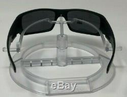 New Oakley Crankshaft POLARIZED OO9239-06 Matte Black WithBlack Iridium+balaclava