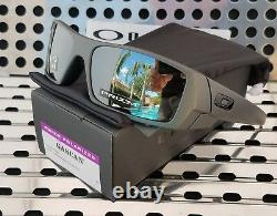 New Oakley GASCAN 9014-3560 Sunglasses Matte Steel with Prizm Black Polarized