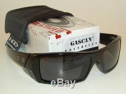 7a0b572ac3 New Oakley Gascan Sunglasses Polished Black Frame 12-891 Polarized Grey  Lenses
