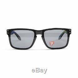 New Oakley Holbrook Polished Black Grey Polarized Lens OO9102-02 Mens Sunglasses
