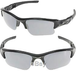 New Oakley Men's Gradient Flak Jacket XLJ OO9009 03-915 Black Wrap Sunglasses