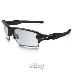 New Oakley Men's Photochromatic Flask OO9188-50 Black Shield Sunglasses F/Ship