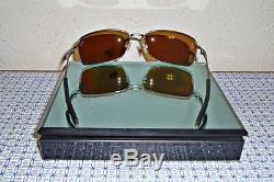 New Oakley Men's Polarized Square Wire OO6016-01 Titanium Square Sunglasses