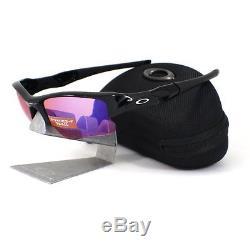 New Oakley OO9009-08 FLAK JACKET XLJ Polished Black Prizm Trail Mens Sunglasses