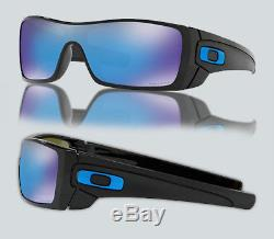 New Oakley OO 9101 BATWOLF 910158 POLISHED BLACK Sunglasses