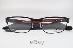 New Oakley OX5079-0453 Black & FERRARI Red Carbon Fiber Eyeglasses 53mm withBag
