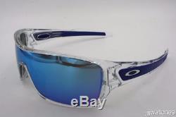 New Oakley Turbine Rotor Clear Sapphire Iridium Men Sunglasses OO9307 10 $163