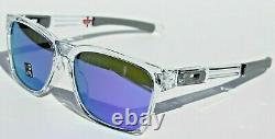 OAKLEY Catalyst Sunglasses Polished Clear/Violet Iridium NEW OO9272-05