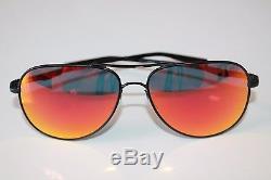 OAKLEY ELMONT L AVIATOR SUNGLASSES OO4119-0460 Satin Black / Ruby Iridium NEW