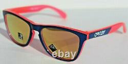 OAKLEY Frogskins Sunglasses Translucent Neon Pink/Prizm Rose Gold OO9013 NEW