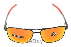 OAKLEY GAUGE 6 TITANIUM POLARIZED OO6038-04 57mm Men Sunglasses BLACK PRIZM RUBY