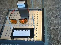 OAKLEY Gauge 6 sunglasses OO 6038-04 57 PRIZM RUBY POLARIZED + titanium Frame