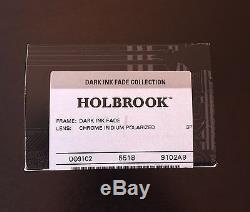 OAKLEY HOLBROOK OO9102-A9 Chrome Iridium Polarized Dark Ink Fade Collection NEW
