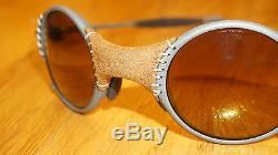 OAKLEY New Sunglasses MARS Leather/Gold Iridium 04-104 serial M009999 Jordan
