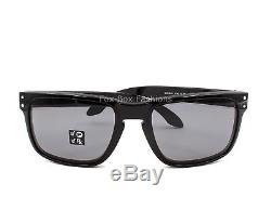 OAKLEY OO9102 02 HOLBROOK Polished Black Grey Polarized 57mm NEW