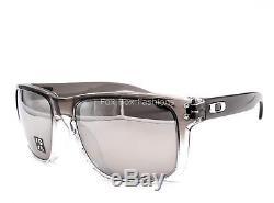 OAKLEY OO9102-A9 HOLBROOK Sunglasses Gray Fade Chrome Mirror Flash Polarized
