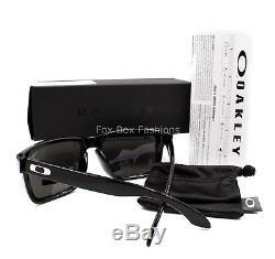 OAKLEY OO9102-E155 HOLBROOK Sunglasses Polished Black Prizm Black Iridium NEW