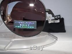OAKLEY POLARIZED ELMONT M AVIATOR SUNGLASSES OO4119-0558 Mat Black / Prizm Daily