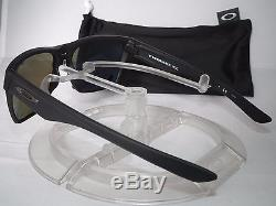 OAKLEY POLARIZED TWOFACE XL SUNGLASSES OO9350-05 Matte Black / Sapphire Iridium