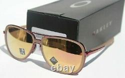 OAKLEY Split Time Sunglasses Womens Matte Sepia/Prizm Rose Gold NEW OO4129-1558