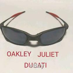 OAKLEY Sunglasses Rare JULIET X-METAL DUCATI Collaboration Black Iridium Men's