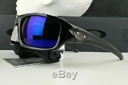 OO9236-12 Mens Oakley Valve Sunglasses Polished Black Deep Blue Polarized