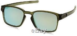 OO9353-08 Mens Oakley Latch SQ Sunglasses Matte Olive Ink Emerald Iridium