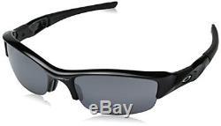 Oakley 03-881 Men's Flak Jacket Iridium Sunglasses, Jet Black Frame/Black Lens