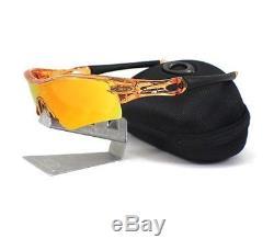 Oakley 09-756J RADAR PATH Crystal Orange Fire Iridium Asian Fit Mens Sunglasses