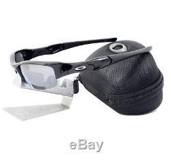 Oakley 12-900 POLARIZED FLAK JACKET Jet Black Iridium Mens Sports Sunglasses