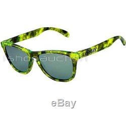 Oakley 24-310 COLLECTORS FROGSKINS Acid Tortoise Green Emerald Mens Sunglasses