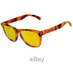 Oakley 24-312 COLLECTORS FROGSKIN Acid Tortoise Orange Fire Mens Sunglasses Rare